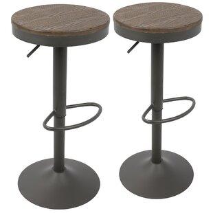 Chambord Adjustable Height Swivel Bar Stool (Set of 2)
