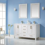 Ryland 60 Double Bathroom Vanity Set with Mirror by Everly Quinn