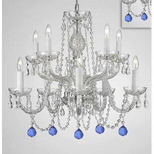 House of Hampton Mellor Crystal 10-Light Chandelier