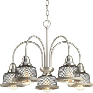 Beachcrest Home Murillo 5-Light Shaded Chandelier