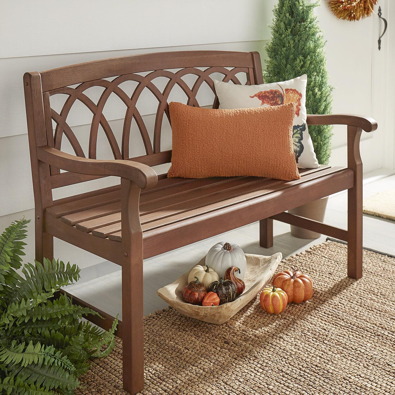 Three Posts Brook Hollow Wooden Garden Bench & Reviews | Wayfair