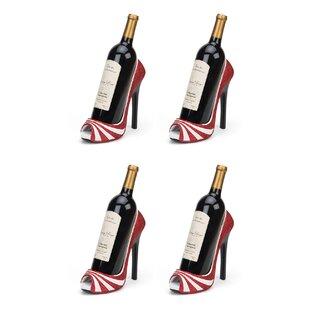 Wrought Studio Giardina High Heel 1 Bottle Tabletop Wine Rack (Set of 4)