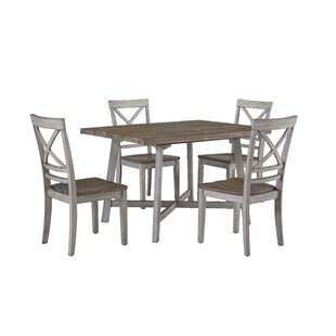 Duplessis 5 Piece Dining Set One Allium Way