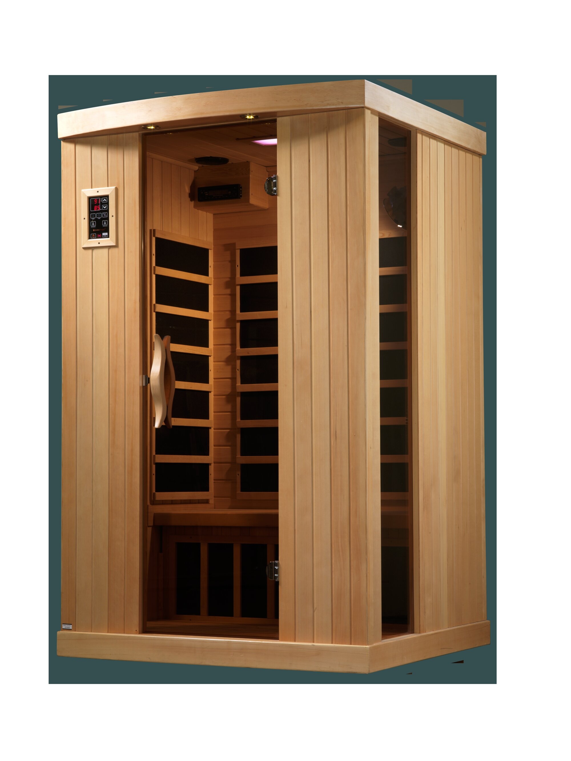 Charming Dynamic Infrared Puretech Low EMF 2 Person FAR Infrared Sauna U0026 Reviews    Wayfair