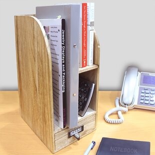 Loon Peak Riccardi Adjustable Wooden Desk Organizer