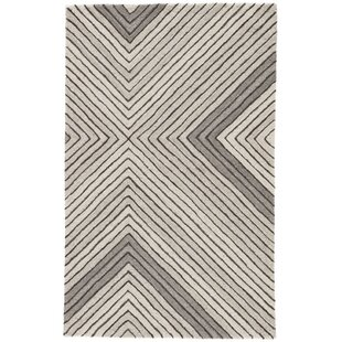 Best Reviews Sarmiento Hand-Tufted Wool Pumice Stone/Steeple Gray Area Rug By Orren Ellis