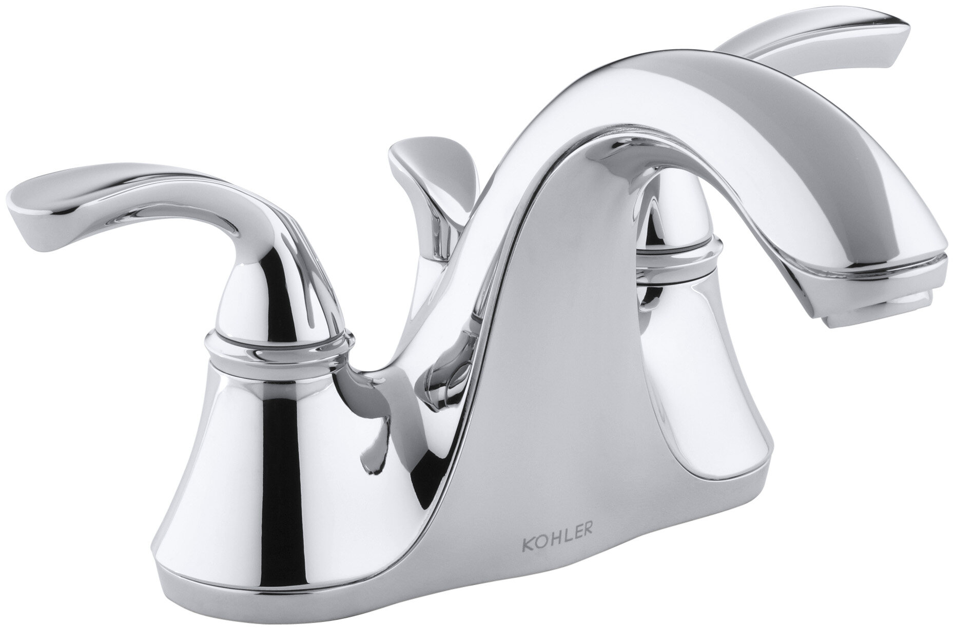 Awesome Kohler Forte Centerset Bathroom Faucet With Drain Assembly Complete Home Design Collection Papxelindsey Bellcom