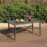Carty Outdoor Patio Rectangular Cast Aluminum Coffee Table