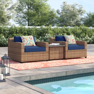 Waterbury 3 Piece Conversation Set with Cushions by Sol 72 Outdoor