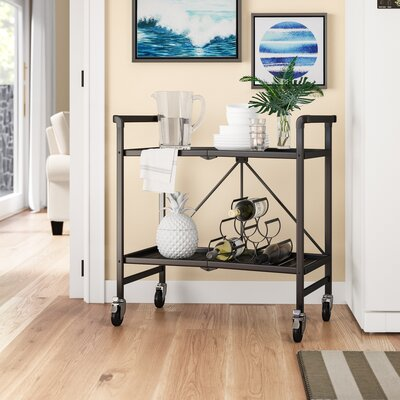 Hull Bar Serving Cart by Beachcrest Home Great price