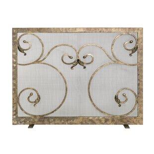 Elektra Single Panel Steel Fireplace Screen by Ornamental Designs