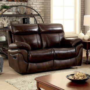 Robeson Leatherette Transitional Reclining Loveseat