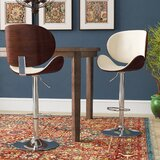 Menges Adjustable Height Swivel Bar Stool by Wrought Studio™