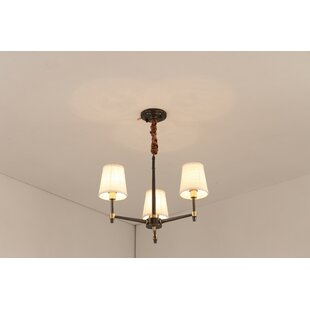 Shelborne 3-Light Shaded Chandelier by Charlton Home