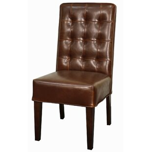 Winterbourne Leather Side Chair (Set of 2) Loon Peak