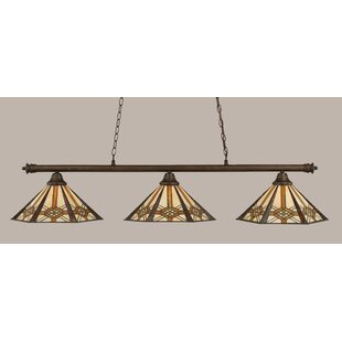 Mendez 3-Light Tiffany Shade Billiard Light by Red Barrel Studio