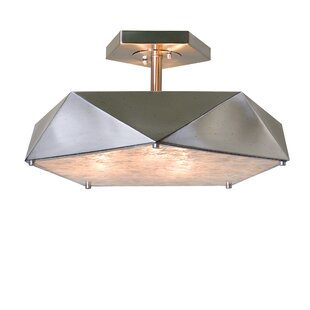 Brayden Studio Ontiveros 3-Light Semi Flush Mount