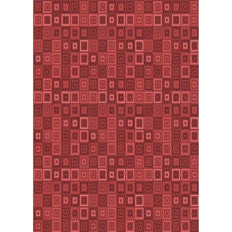 East Urban Home Geometric Wool Red Area Rug