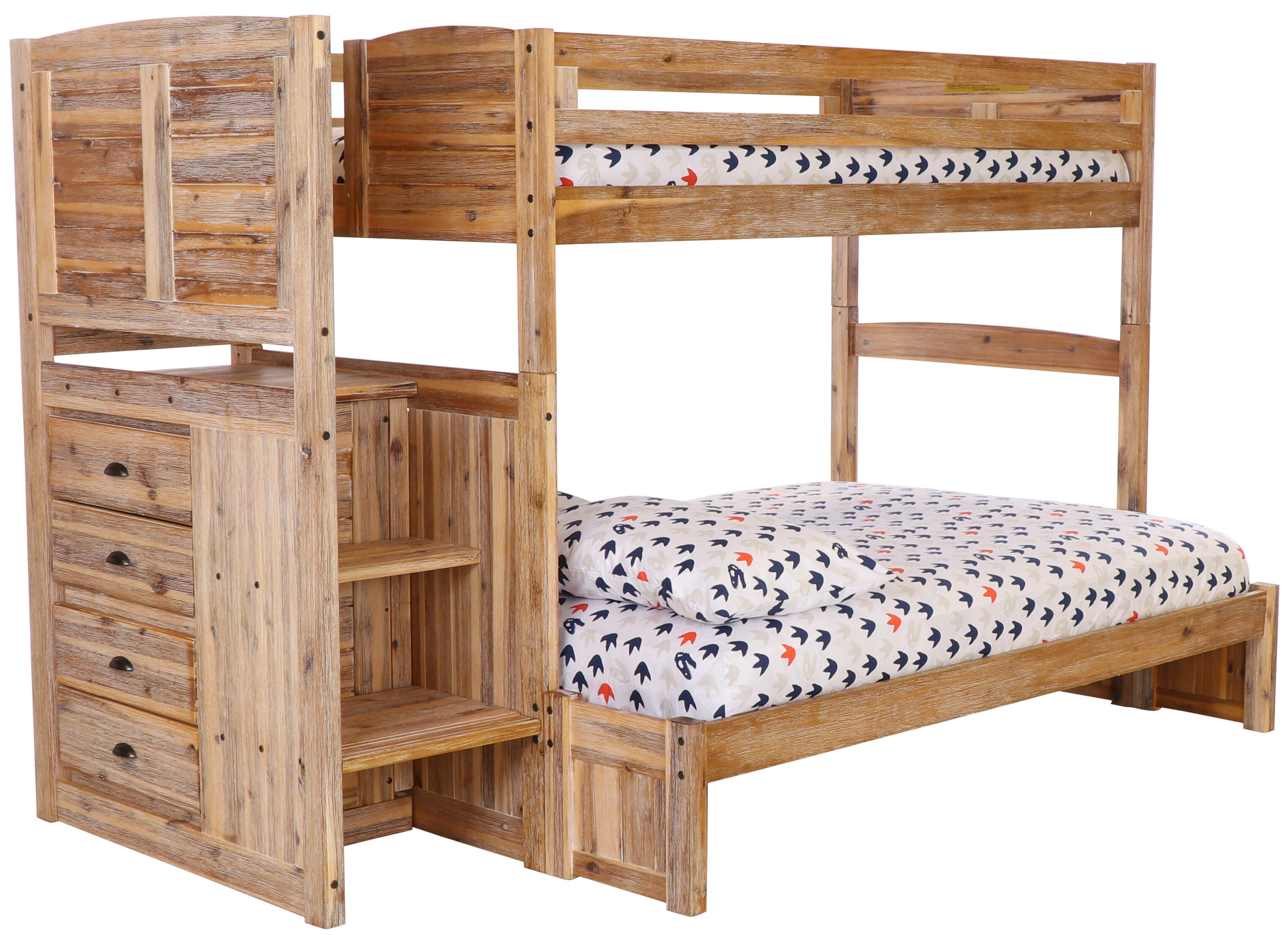 Picture of: Booker Twin Over Full Bunk Bed With 4 Drawers Reviews