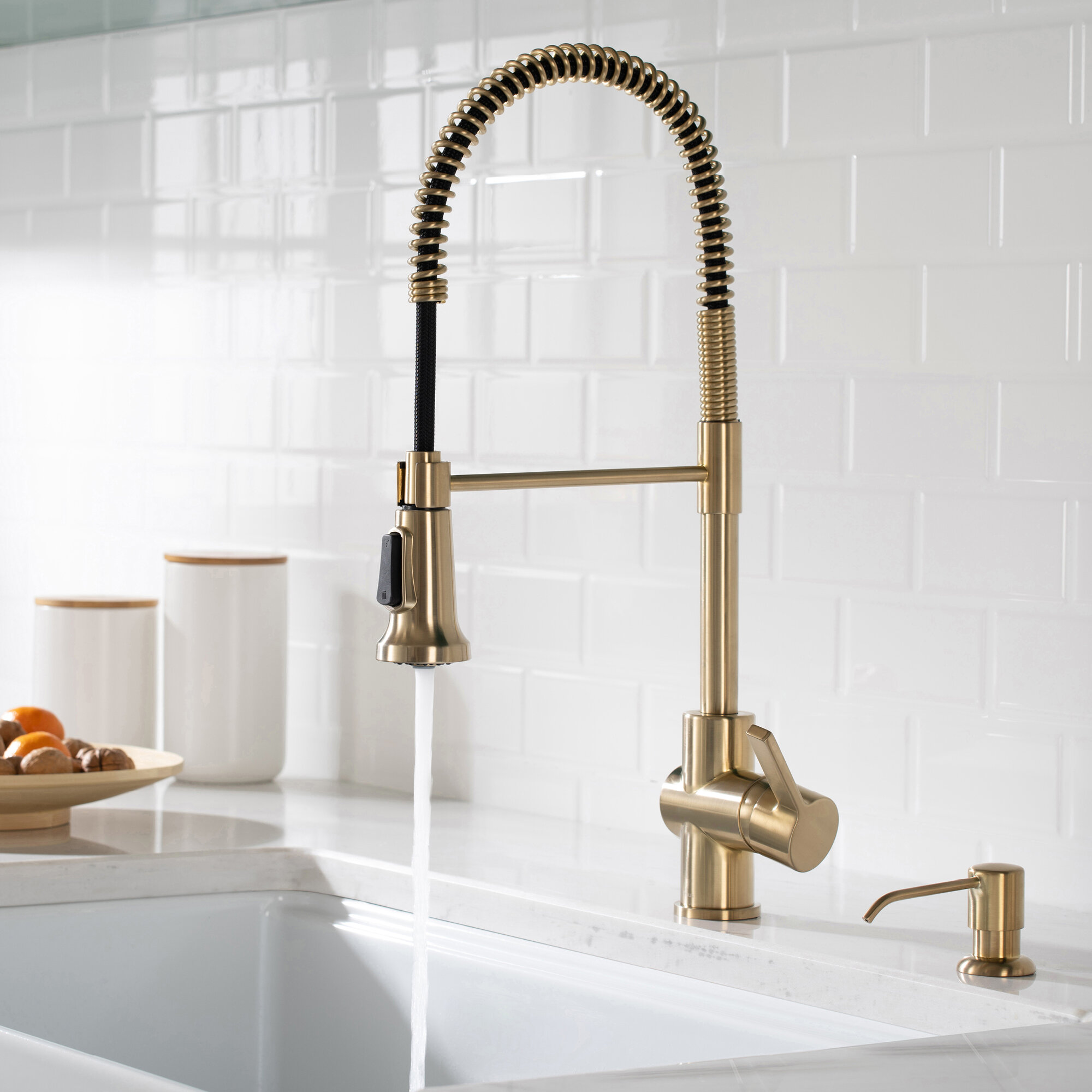 Britt Pull Down Single Handle Kitchen Faucet