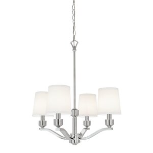Roule 4-Light Shaded Chandelier