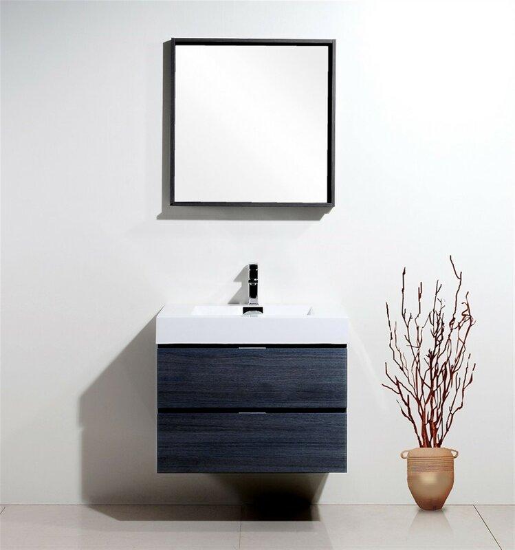Ordinaire Tenafly Single Wall Mount Bathroom Vanity Set