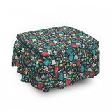 Ornate Fruits Foliage Ottoman Slipcover (Set of 2) by East Urban Home