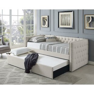 Chess Twin Daybed with Trundle by Charlton Home