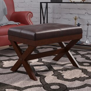Andover Mills Fraser Faux Leather X Bench