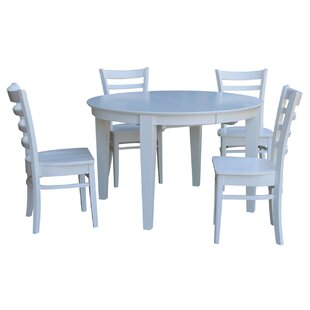 Emerald 5 Piece Extension Solid Wood Dining Set