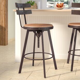 Review Whaley Height Adjustable Swivel Bar Stool