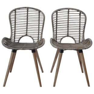 Bay Isle Home Rattan Dining Chairs