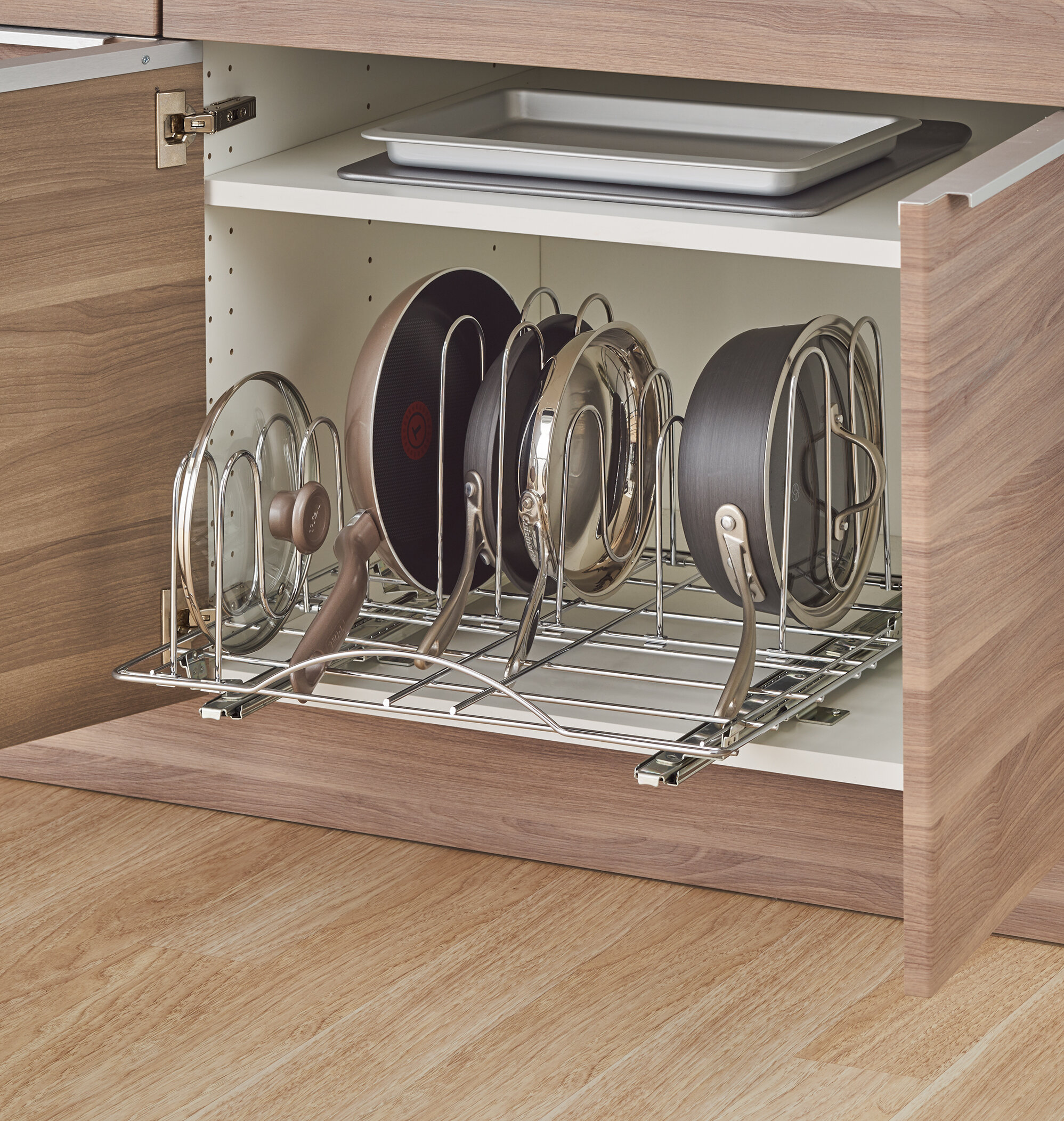products organizer cookware rev click to two zoom super out a tier pull shelf cabinet