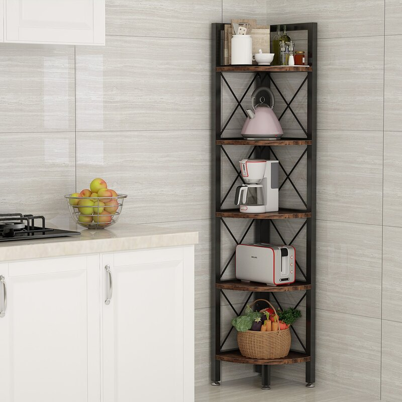 17 Stories O Hare 62 99 H X 12 2 W Corner Shelving Unit Wayfair