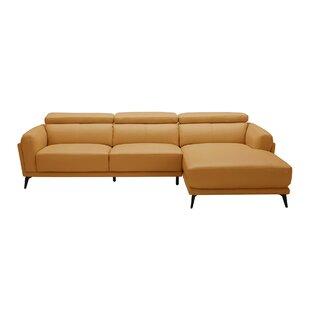 Huguley Cow Hide Sectional Orren Ellis