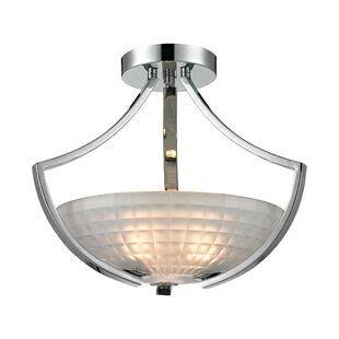 Weedman 3-Light Semi Flush Mount by Winston Porter