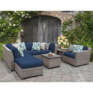Meeks 8 Piece Sectional Seating Group with Cushions by Rosecliff Heights