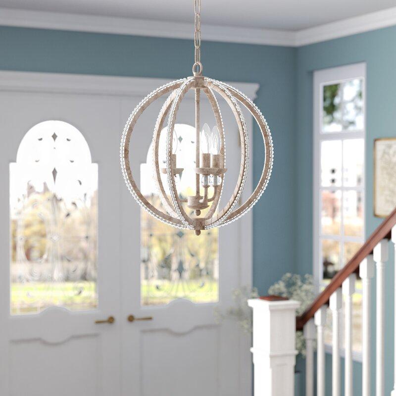 Clarice 3 Light Led Globe Chandelier