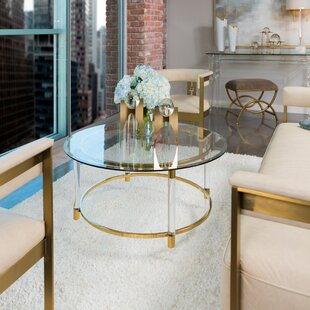 Best Review Dessanto Acrylic and Stainless Steel Coffee Table by Nakasa