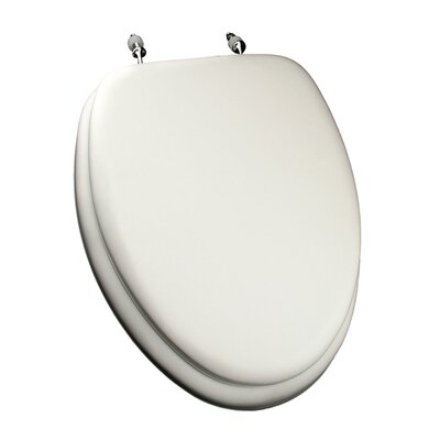 Comfort Seats Deluxe Soft Elongated Toilet Seat Finish: White, Hinge Finish: Chrome