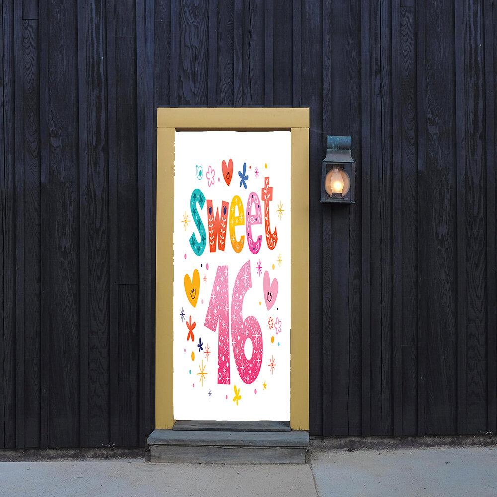 The Holiday Aisle Sweet 16 With Hearts Door Mural Wayfair
