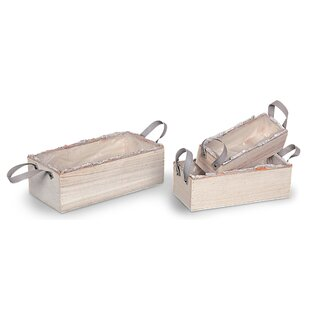 Naveen 3 Piece Wood Planter Box Set By Brambly Cottage
