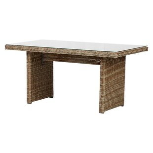 Rozlynn Aluminium And Rattan Dining Table Image
