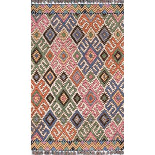 Price comparison House Hand-Tufted Wool Pink/Blue Area Rug ByUnion Rustic