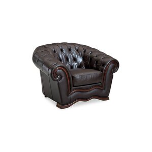 Barkell Leather Armchair by Canora Grey