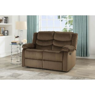 Act Suede Reclining Loveseat by Winston Porter