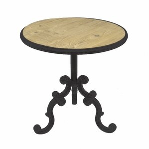 Vinit Carved Metal End Table by Gracie Oaks