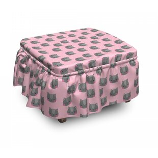 Pet Portrait Ottoman Slipcover (Set Of 2) By East Urban Home