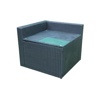 Twinspur Patio Wicker Corner Table