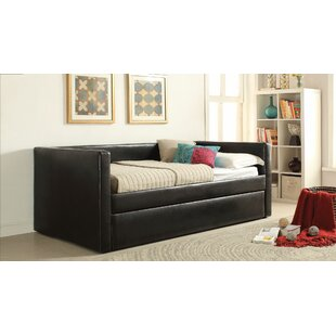 Latitude Run Lederer Daybed with Trundle